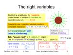 the right variables