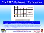 clarreo radiometric performance