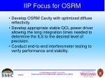 iip focus for osrm