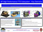 iip high performance fts subsystem key elements