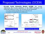 proposed technologies ocem