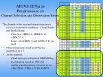 atovs 1dvar as pre processor 3 channel selection and observation errors