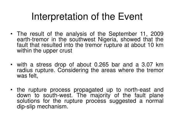 Interpretation of the Event