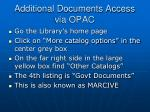 additional documents access via opac
