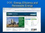 doe energy efficiency and renewable energy
