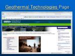 geothermal technologies page