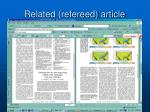 related refereed article