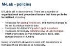 m lab policies