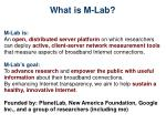 what is m lab