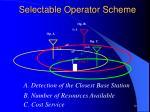 selectable operator scheme1