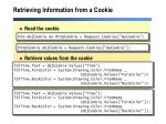 retrieving information from a cookie