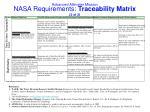 nasa requirements traceability matrix 2 of 2