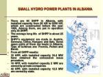 small hydro power plants in albania