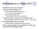 what happens on a page fault