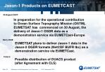 jason 1 products on eumetcast