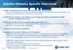 satellite altimetry specific objectives