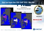 sea ice from the osi saf ss2 met no