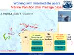 working with intermediate users marine pollution the prestige case