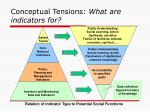 conceptual tensions what are indicators for