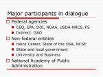 major participants in dialogue