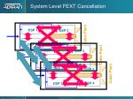 system level fext cancellation