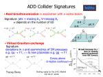 add collider signatures