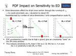 pdf impact on sensitivity to ed
