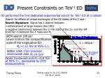 present constraints on tev 1 ed