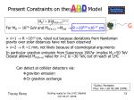 present constraints on the model