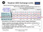 tevatron add exchange limits
