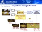 image mosaic and super resolution