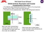 wsoa intrinsic resolution and coastal contamination scenarios