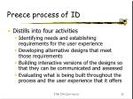 preece process of id