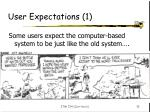 user expectations 1