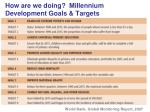 how are we doing millennium development goals targets