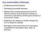 key sustainability challenges