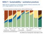 mdg 7 sustainability sanitation practices