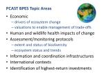 pcast bpes topic areas