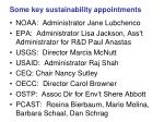 some key sustainability appointments