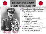 japanese militaristic beliefs and movements