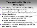 the american war machine starts again