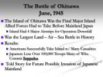the battle of okinawa june 1945