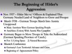 the beginning of hitler s aggression