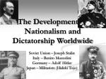 the development of nationalism and dictatorship worldwide