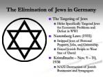 the elimination of jews in germany