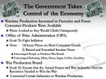 the government takes control of the economy