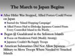 the march to japan begins