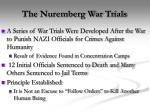 the nuremberg war trials