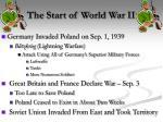 the start of world war ii