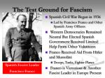 the test ground for fascism